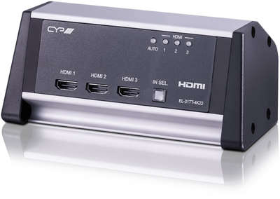 CYP EL-31TT-4K22 3:1 4K HDMI 2.0a Desktop Switcher product image