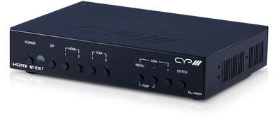 CYP EL-7400V 5:1x2 HDMI / VGA / DisplayPort Presentation Switcher & Scaler with HDMI & HDBaseT Outputs product image
