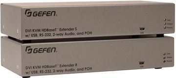 Gefen EXT-DVIKA-HBT2 1:1 HDBaseT 2.0 DVI/RS-232/IR/Audio/PoC over Twisted Pair transmitter and receiver set product image
