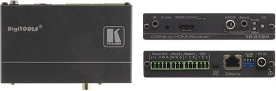 Kramer TP-578H 1:1 DGKat HDMI/Audio/IR/RS-232 Twisted Pair Receiver product image