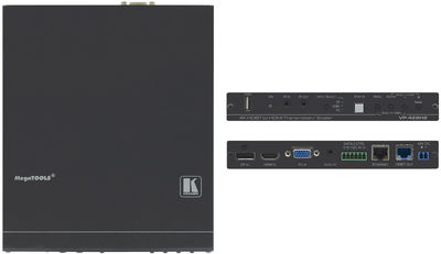 Kramer VP-428H2 3:1 4K60 4:4:4 HDCP 2.2 DisplayPort, HDMI & VGA Auto Switcher/Scaler and PoE Provider over HDBaseT product image