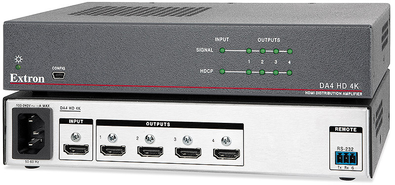 Extron DA4 HD 4K - 1:4 4K HDMI Distribution Amplifier