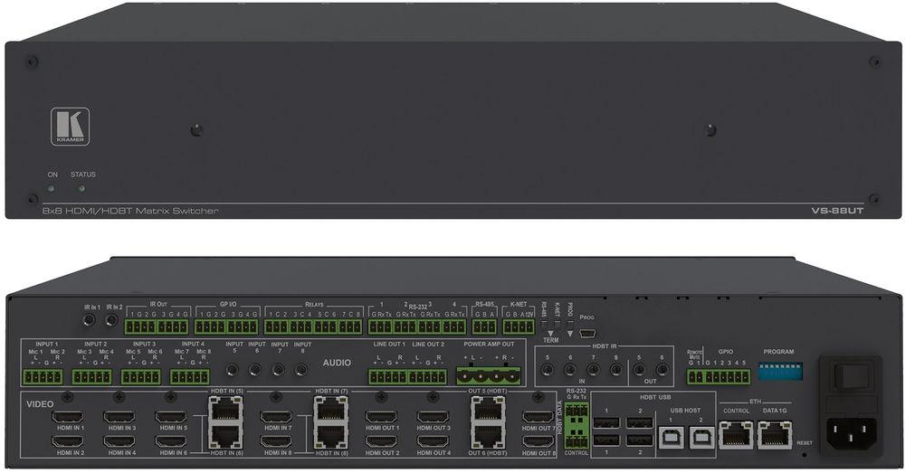 Kramer VS-88UT - 8x8 4K60 4:2:0 HDMI/HDBaseT 2.0 Matrix Switcher and ...