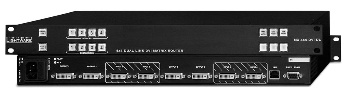 Lightware mx4x4dvi dl 4x4 dual link dvi matrix switcher with 100 4x4 dual link dvi matrix switcher with 100 edid memory management with rs 232 and lan control publicscrutiny Image collections