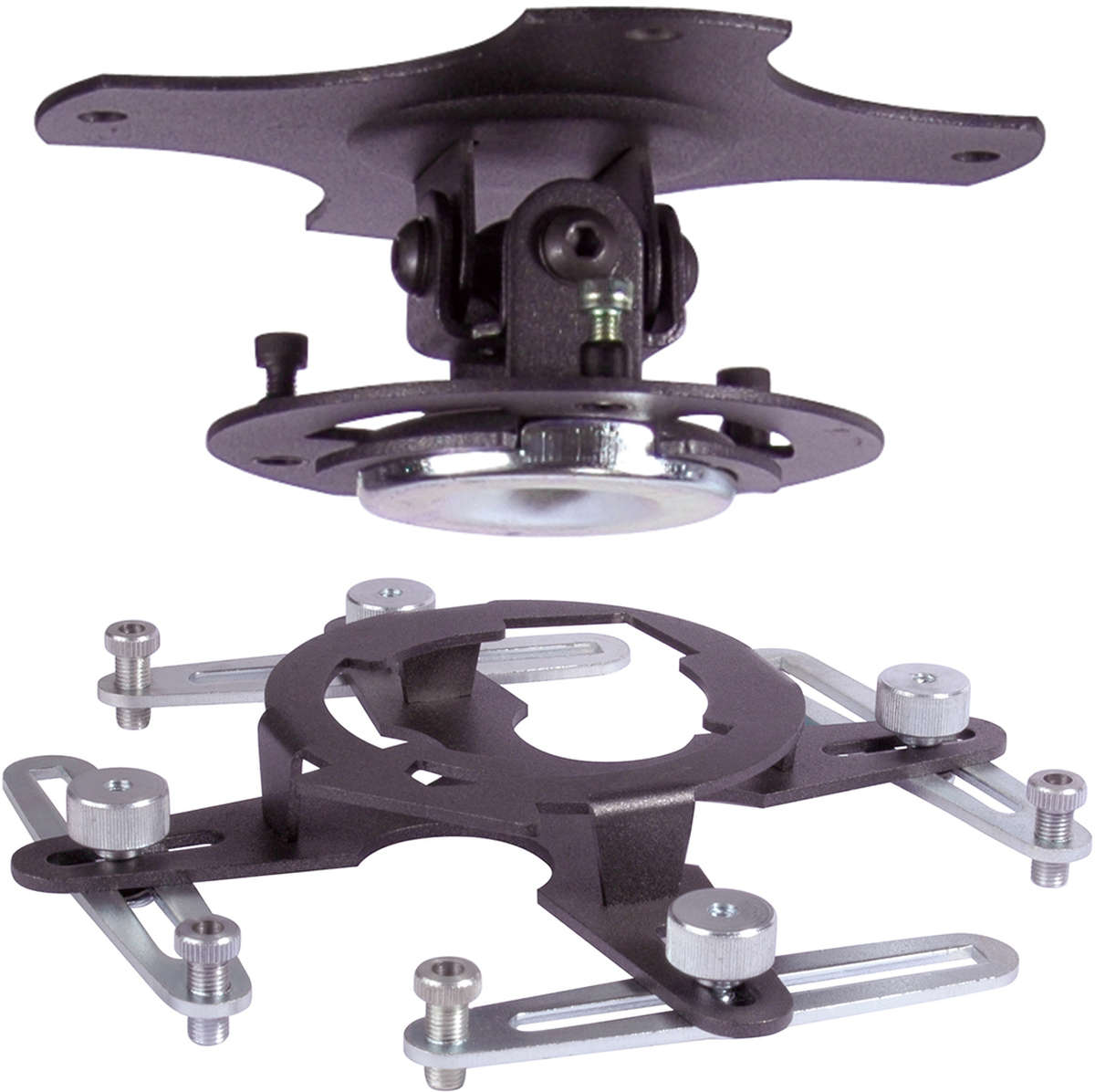 Unicol GKC-GAPU GyroLock Twist and lock close universal ceiling bracket finished in black product image